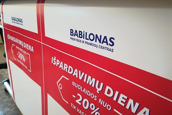 Plakatu gamyba   Spalvota Reklama
