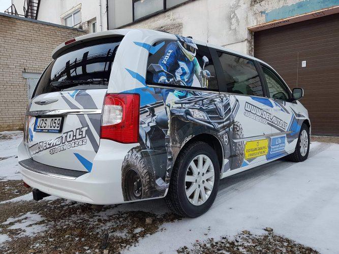 Reklama ant automobilio   Automobilio apipavidalinimas   Spalvota Reklama