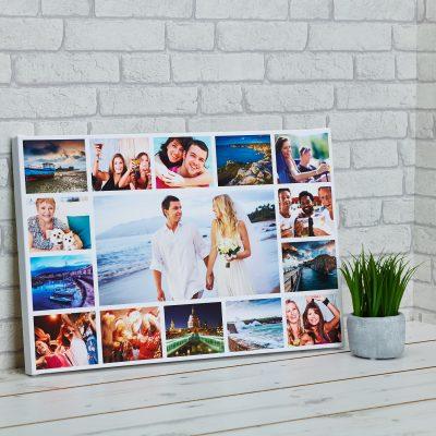 Nuotraukos ant foto drobės - koliažas
