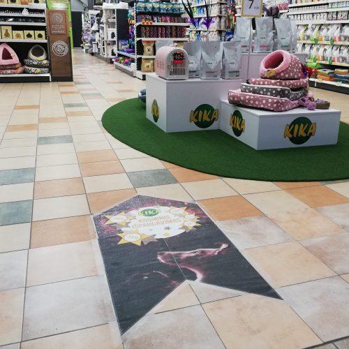 Reklaminiai grindų lipdukai - Spalvota Reklama