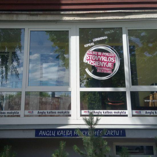 Reklaminiai lipdukai ant langų - Spalvota Reklama