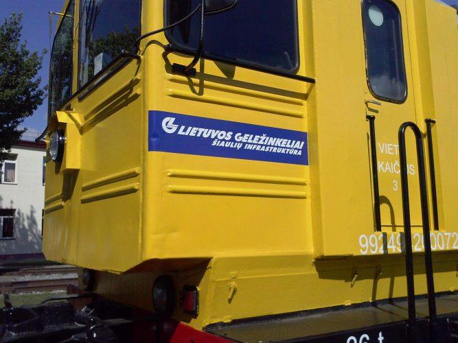 Reklama ant traukinių - Spalvota Reklama